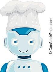 chef cuistot, robot, illustration