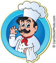 chef cuistot, thème, 2, image
