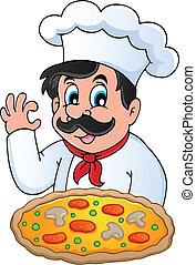 chef cuistot, thème, image, 6