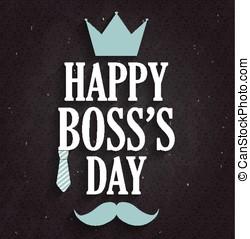 chef, dag, affisch, på, svart, chalkboard