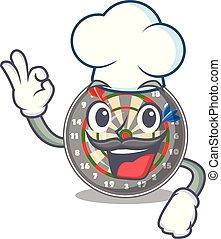 Chef dartboard in the shape of mascot