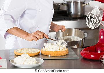 Chef decorating cream