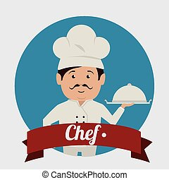 Chef design, vector illustration.
