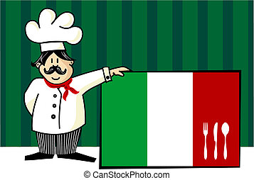 chef, di, cuisine italiano