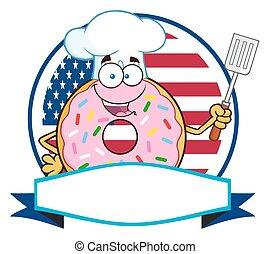 Chef Donut Cartoon Character