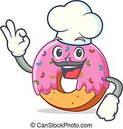 Chef Donut character cartoon style