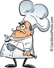 chef, enojado