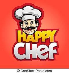 chef, feliz