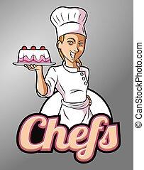 chef, femmina