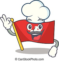 Chef flag switzerland isolated in the character