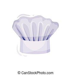 chef, fondo., cap., cuoco, cappello bianco