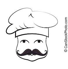 Chef funny cartoon face