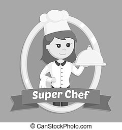 Chef girl in emblem