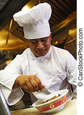 chef, haga, último toque