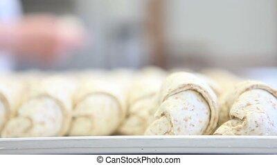 chef hands preparing pastry brioche