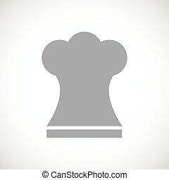 Chef hat black icon
