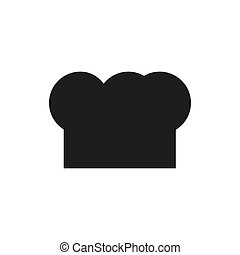 Chef hat - black icon on white background