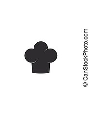 Chef hat icon isolated on white background. Clothing cook in flat style. Vector Illustration