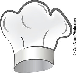 Chef hat icon logo - Chef hat icon vector