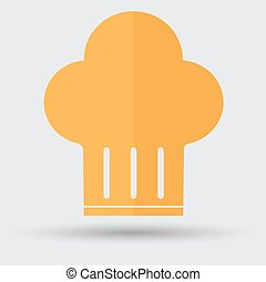 chef hat icon on a white background