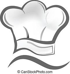 Chef hat logo - Vector of chef hat icon symbol