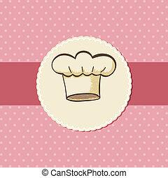 Chef Hat - Symbol of chef hat for menu or card design
