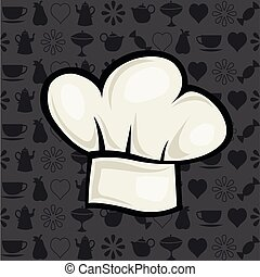 chef hat vector illustration in cartoon style