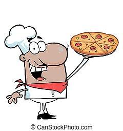 chef, hispano, el suyo, presentación, pizza