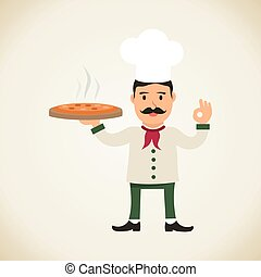 Chef holding