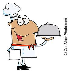 chef, hombre hispano
