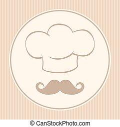 Chef icon cover menu Vector illustration background