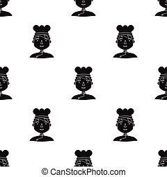 Chef icon in black style isolated on white background. People of different profession symbol stock vector illustration.