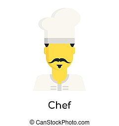 Chef icon isolated on white background