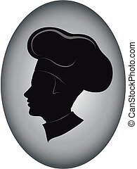 Chef icon - Vector illustration of young chef ,sign