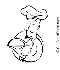 chef illustration silhouette