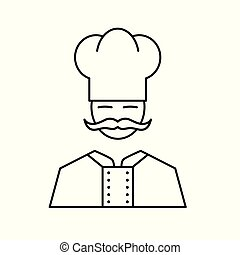 chef in a cooking hat icon