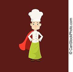 Chef - In Super Hero Costume