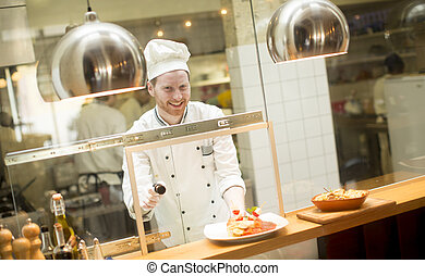 Chef in the restaurant