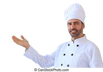 Chef in white toque