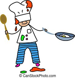 chef kid - i want to be a chef when i grow up - toddler art...