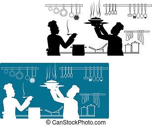 chef-koks, het koken