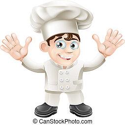 chef, lindo, carácter, mascota