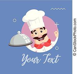 Chef Logo Mascot Vector Illustration
