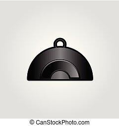 chef, logotipo, cappello