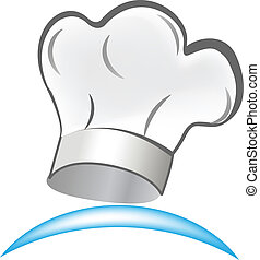 chef, logotipo, símbolo, vector, sombrero