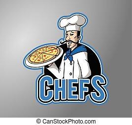 Chef man illustration