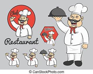 Chef mascot cartoon