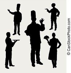 Chef master silhouette
