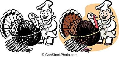Chef Measures Turkey