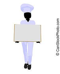 Chef Menu Art Illustration Silhouette